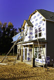 New Home Construction - Ladders and Windows Stock Photography