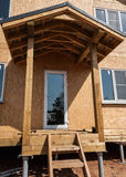 New home construction porch Royalty Free Stock Photo