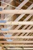 New home construction roof joists Stock Photos