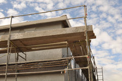 New Home Construction Scaffolding Stock Photography