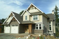 New Home Construction Siding Royalty Free Stock Photos