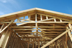 New Home Construction Site Stock Images