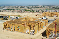 New Home Construction Site Stock Photo