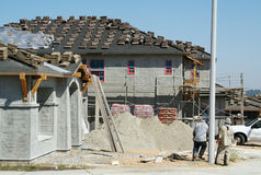 New Home Construction Site royalty free stock image