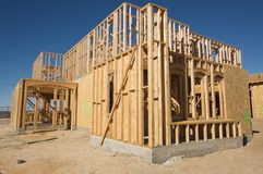 New Home Construction Site Stock Image