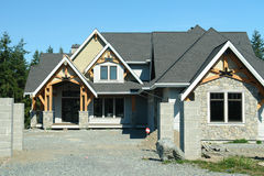 Custom Home House Construction royalty free stock image