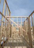 New home construction wood studs Royalty Free Stock Photos