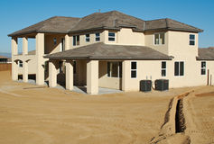 New Home Construction & Yard Stock Photography