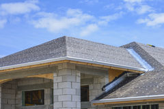 New home construction. New single family home ready for new roof at Boynton, Beach Florida Royalty Free Stock Photos