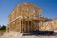 New Home Contruction Royalty Free Stock Photos