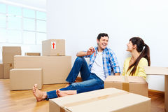 New home couple Royalty Free Stock Images