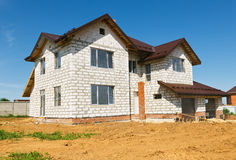 New home currently under construction Royalty Free Stock Photography