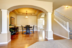 New home dining room interior. Stock Photo