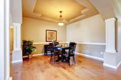 New home dining room interior. Stock Image