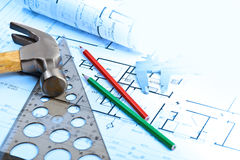 New home drawings Stock Photography