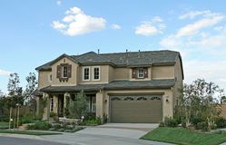 New Home Exterior Stock Photo