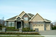 New Home Exterior. New house exterior built in vancouver, Canada Stock Images