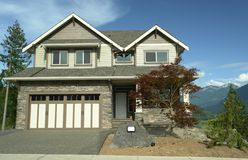 New Home Exterior Siding Stock Photo