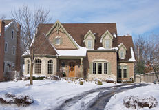 New Home Facade and driveway Stock Photos