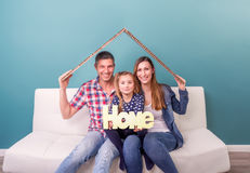 New home family Royalty Free Stock Photography