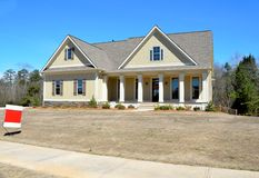 Free New Home For Sale In Rural Georgia Royalty Free Stock Photo - 51552245
