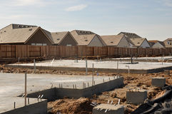 New Home Foundation Royalty Free Stock Photo