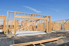 New Home Foundation Stock Image
