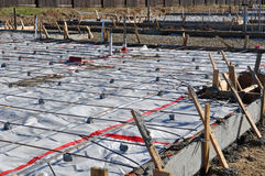 New Home Foundation Concrete royalty free stock image