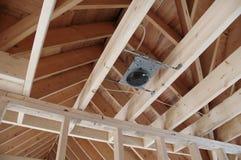 New Home Framing. New home construction - framing - light box stock photos