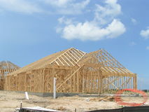 New Home Framing. New Wood Home Framing royalty free stock photography