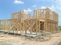 New Home Framing Royalty Free Stock Photo