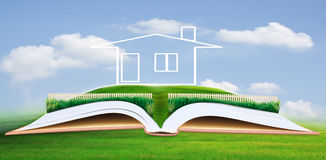 New home on green field for multipurpose Stock Images