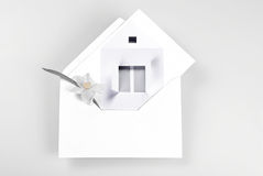 New home greeting card Stock Photo