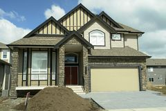 New Home House BC Canada. New house for sale in British columbia, Canada stock image