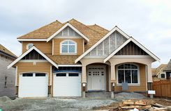New Home House Construction. New large house for sale in British Columbia, Canda stock photography