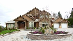 New Home House Construction. Custom home for sale in British Columbia, Canada royalty free stock photos