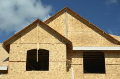 New Home House Construction royalty free stock photography