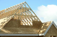 New Home House Construction BC Stock Image