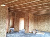 New Home House Construction Framing Lumber Builders Carpentry Craftsman.  stock photos