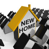 New Home House Means Buying Property Stock Image
