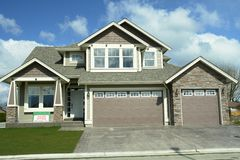 New Home House Real Estate BC. New subdivision home built in British Columbia, Canada stock photo