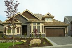 New Home House Residence. Custom designed house in British Columbia, Canada royalty free stock image
