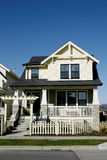 New Home House Yellow. New subdivision home built in Vancouver, BC royalty free stock photos