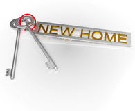 New Home Key Shows Moving Into House Royalty Free Stock Images