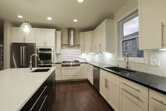 New Home Kitchen. Image of interior detail of a new home kitchen Stock Photo