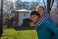 New home for new family. New home for a  young couple who want to Stock Photography