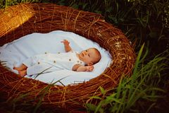 New home for newborn baby. Newborn baby enjoys carefree life. Providing a healthy start in life to each new born baby. Words can not express the joy of new stock images