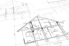 New home plan blueprint Royalty Free Stock Image