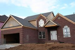 New home in progress. New home nearling Competition royalty free stock photo