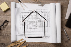 New home project Royalty Free Stock Photo